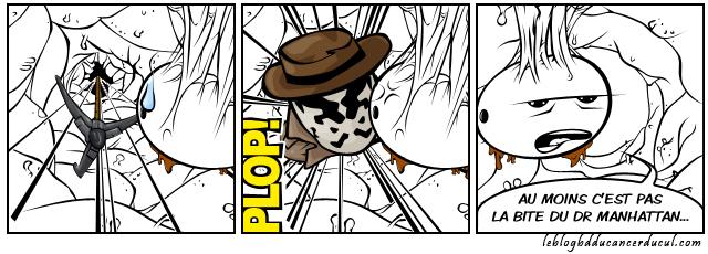 Rorschach se prends pour la bite du docteur Manhattan